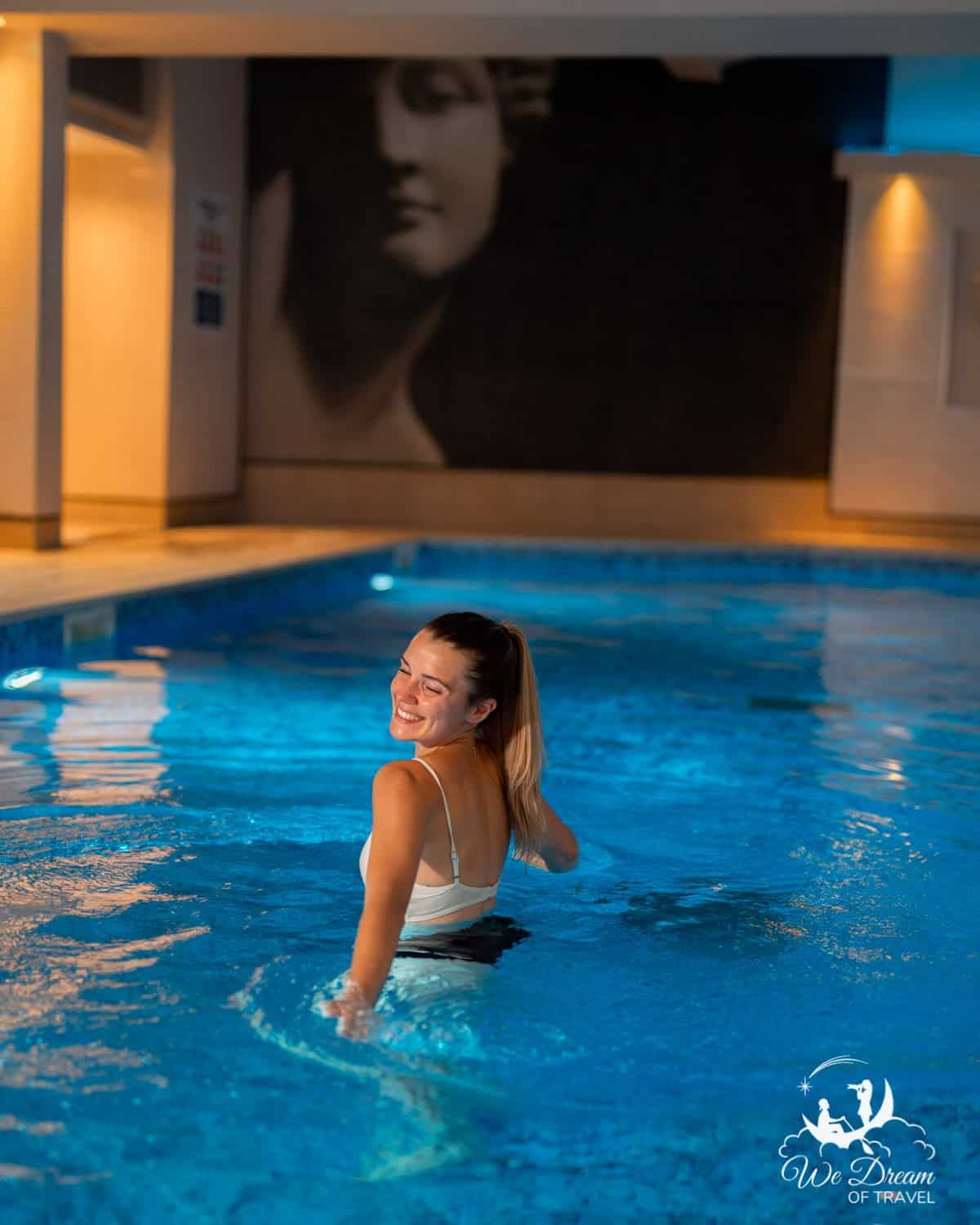 Enjoying the swimming pool at The Grand hotel in York