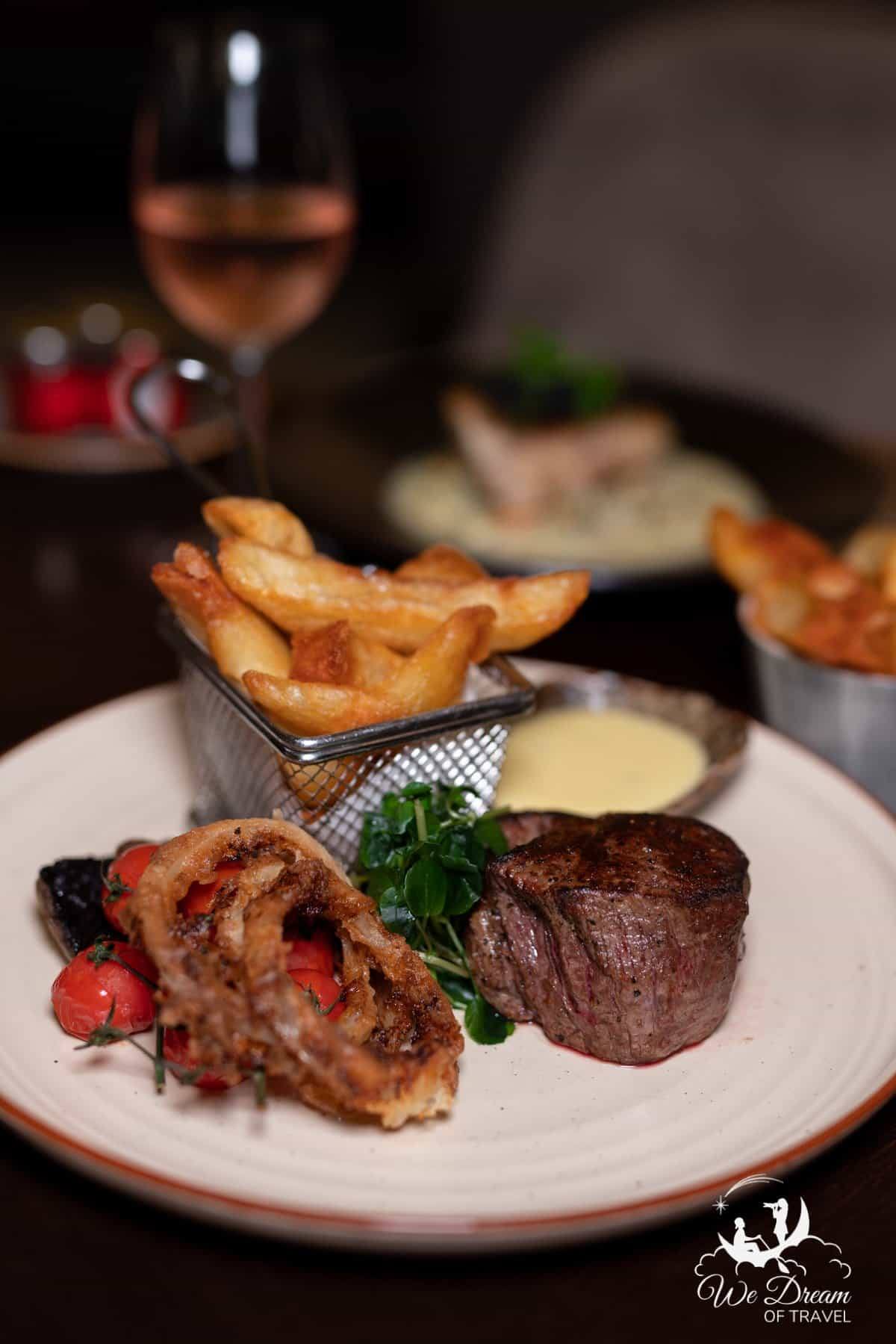 Steak and chips at The Rise York