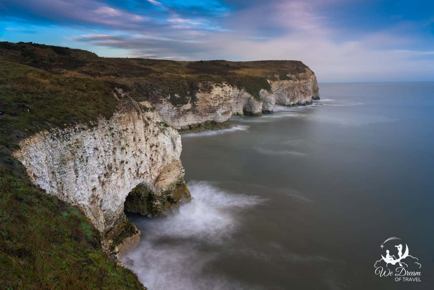 Long exposure photography of the Flamborough Head Cliffs