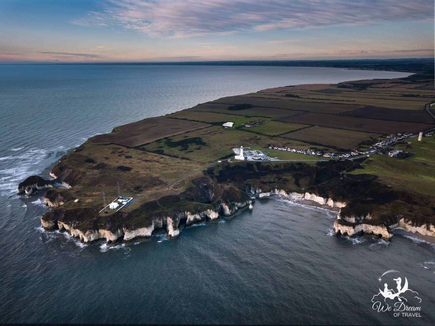 An aerial view of the incredible Flamborough Head.