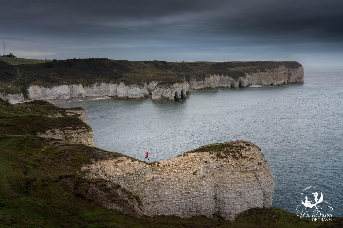 A moody day is still a good day at Flamborough Head.