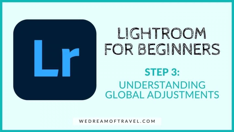 Lightroom for beginners: Understanding global adjustments in lightroom