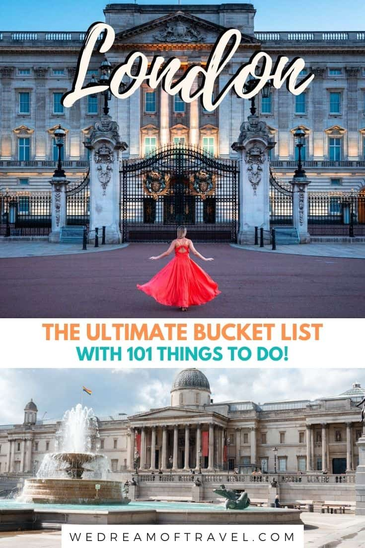 This incredible London bucket list will help you find all the best things to do as told by a Londoner!    London Bucket List | Things to do in London | What to do in London | Places to visit in London | Must See London Bucket List