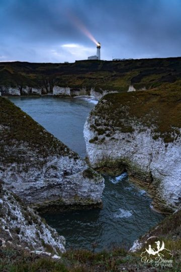 Blue hour photography at flamborough head.