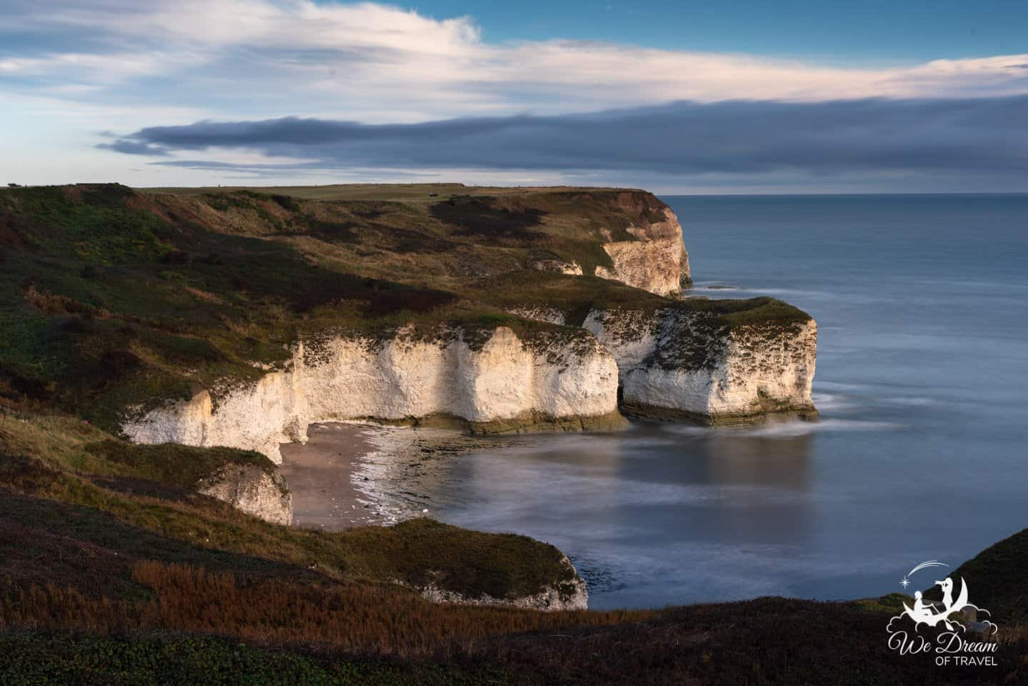 Sunset photography location at Flamborough Headland Heritage coast.