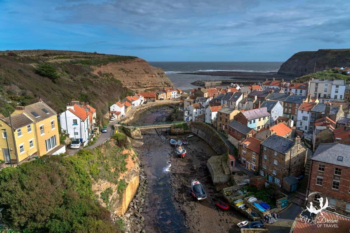 Staithes Village on the Yorkshire Coast.