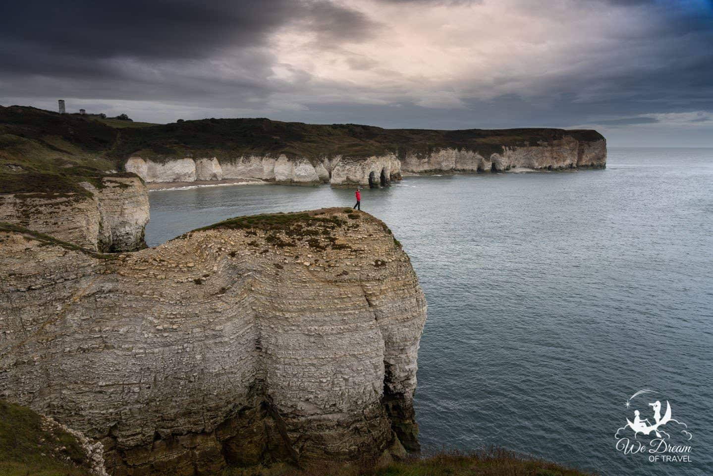 Moody photography of Flamborough Cliffs
