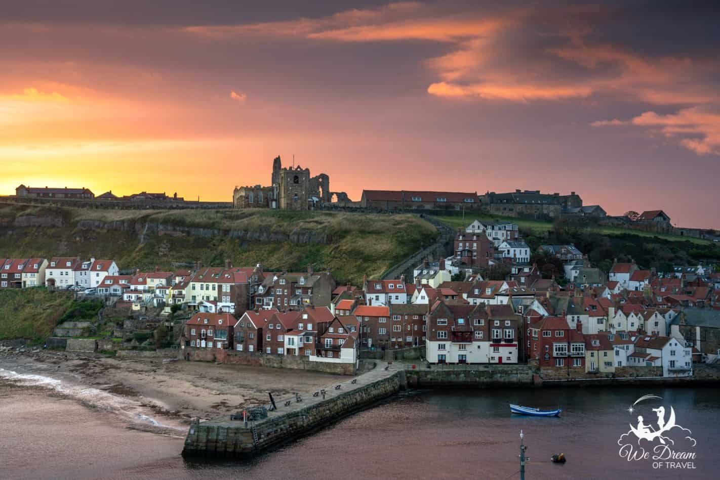An incredible sunrise over Whitby as seen from East Terrace.