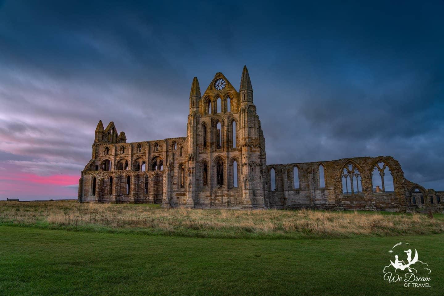 Sunrise photography of Whitby Abbey.