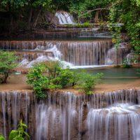 Thailand Waterfall Greeting Card