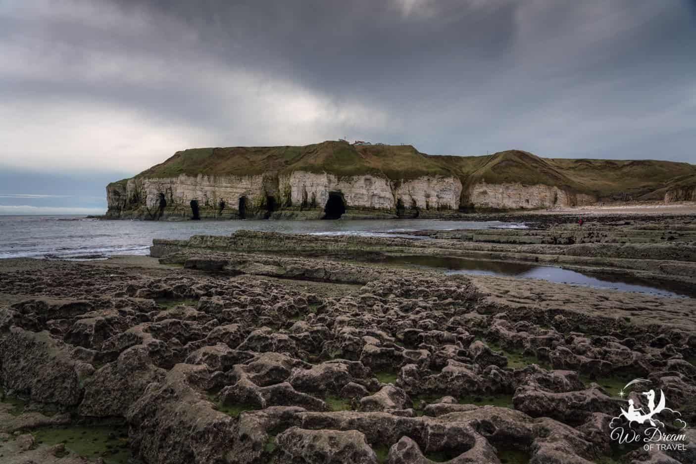 Low tide at Thornwick Bay reveals some fascinating shapes and colours.