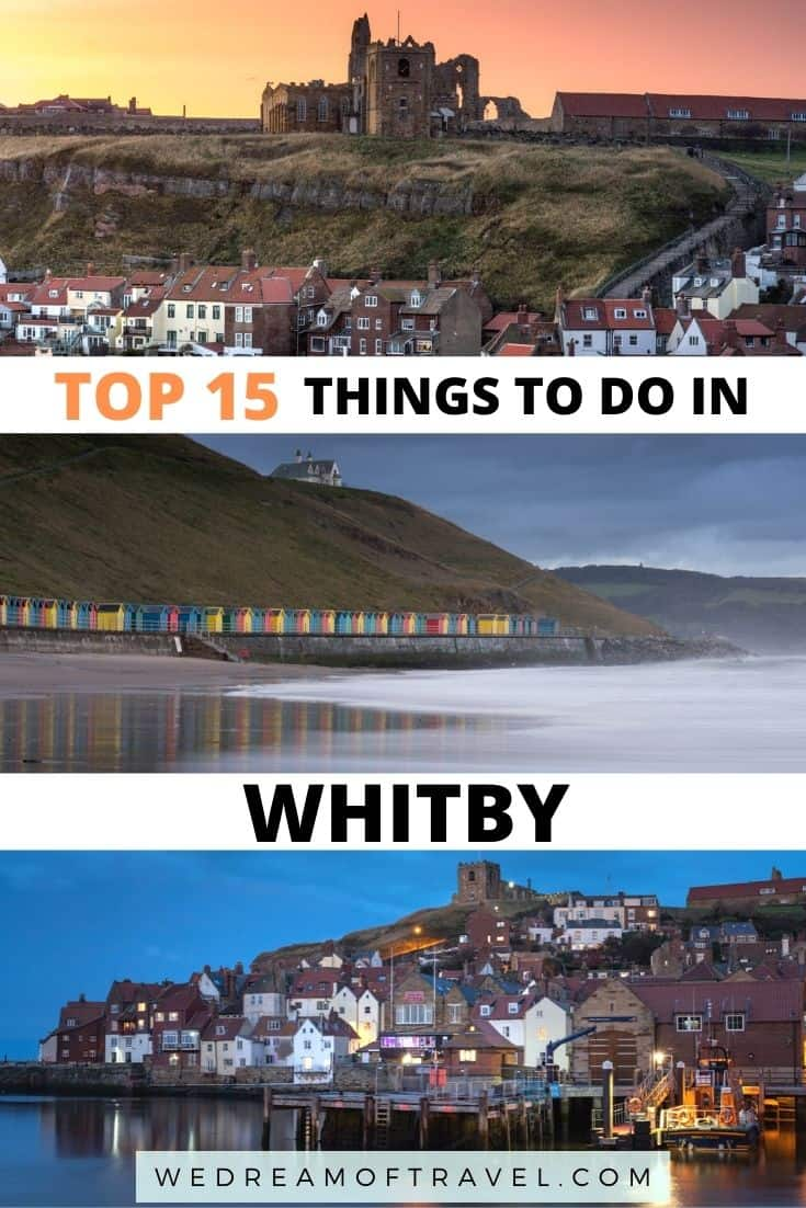 Whitby is one of the most beautiful coastal villages in Yorkshire, England.  Discover the town that inspired Dracula, steeped in history and with its impressive abbey looming over the town.  This guide will make sure you don't miss any of the best things to do in this charming town.  What to do in Whitby | Things to do in Whitby | Historic places in Whitby | Most beautiful places in Whitby