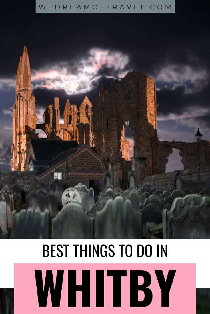 Find all the best things to do in Whitby and historic attractions including dracula-inspiring Whitby Abbey.  #UKStaycation #UnitedKingdom #Whitby #England #NorthEngland #Yorkshire #EnglandTravel
