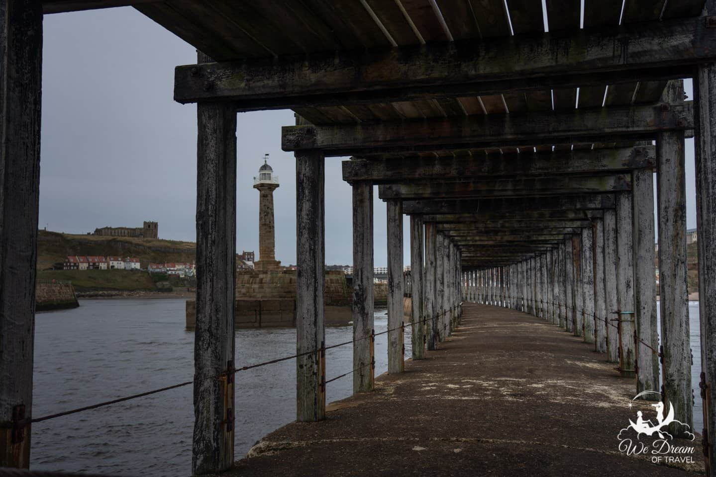 Lower tier of the west pier in Whitby.