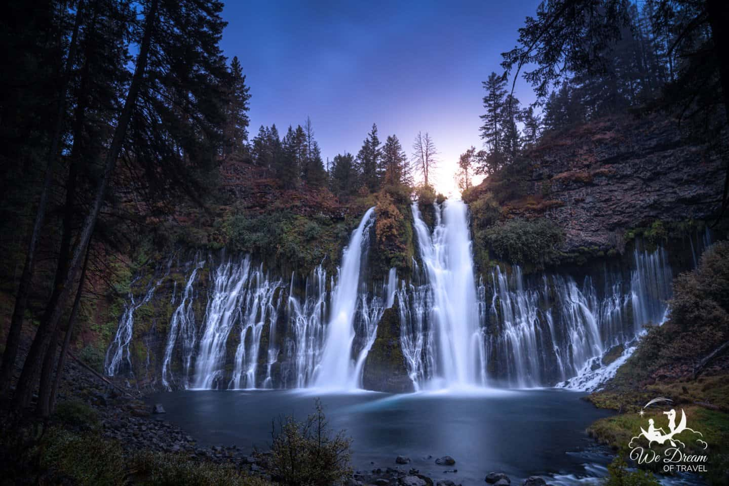 Wide angle photography while camping at Burney Falls