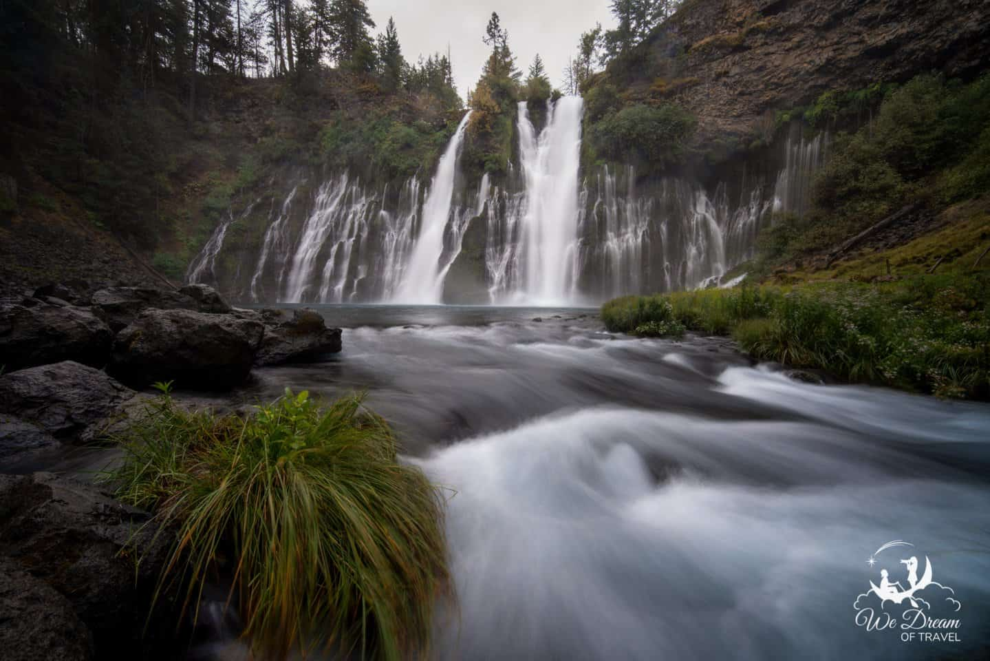 Moody, overcast day at Macarthur-Burney Falls Memorial State Park.
