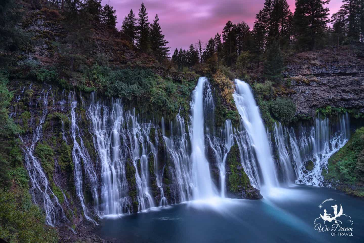 Burney Falls Sunset photography