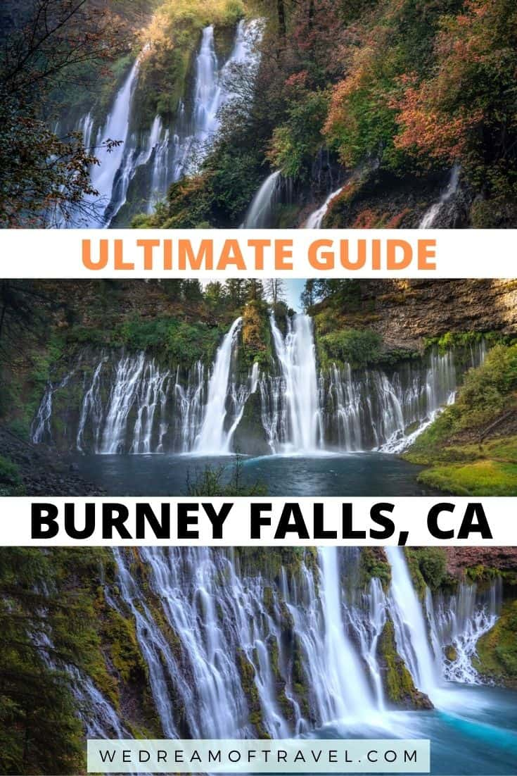 McArthur Burney Falls State Park in Northern California is home to one of the most beautiful waterfalls in the state and was referred to as the 8th wonder of the world by Theodore Roosevelt!  Discover everything you need to know about Burney Falls, including hiking, camping and photography.  #BurneyFalls #NorthernCalifornia #StatePark