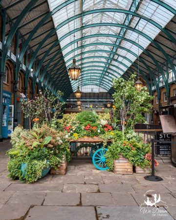 Beautiful floral displays at Covent Garden Market London.