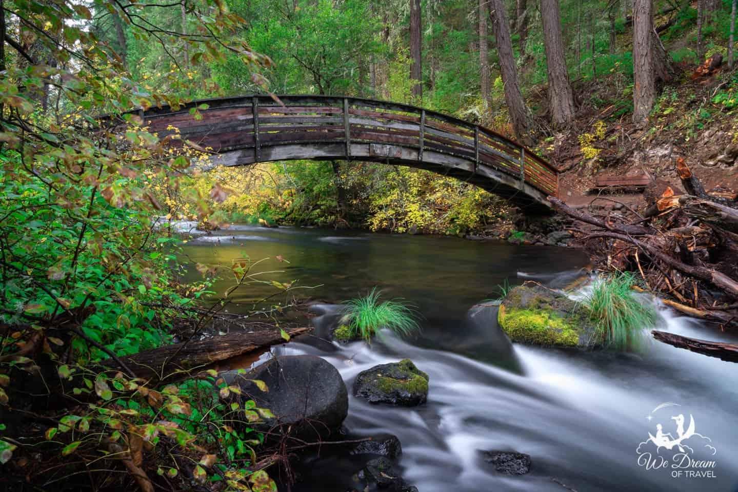 Rainbow bridge on the Burney Falls Loop Trail hike.