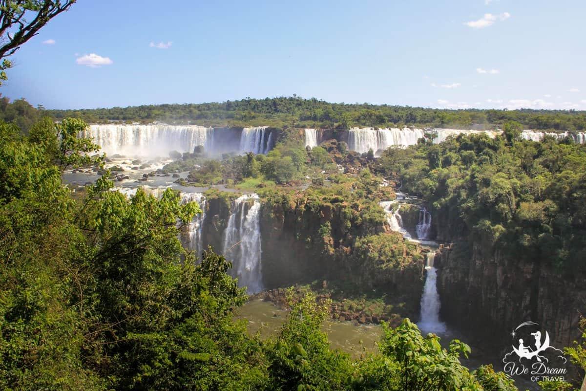 The spectacular Iguazu Falls or Foz do Iguaçu in Brazil.