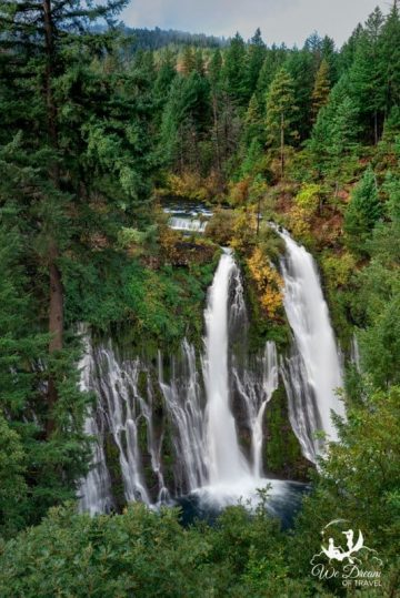 View of Burney Falls from the parking area.