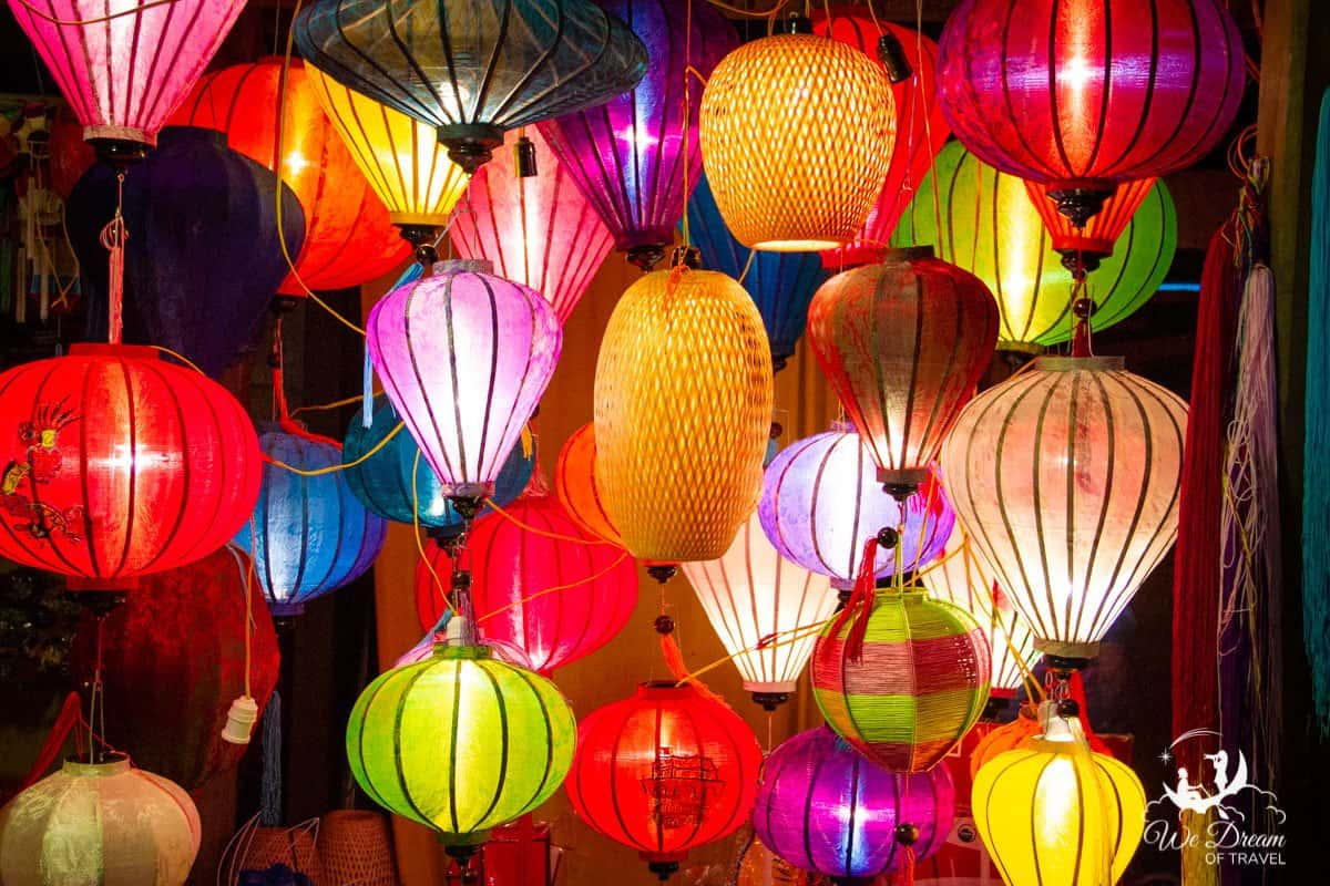 Colourful lanterns decorate the town of Hội An, Vietnam, making it a dream destination.