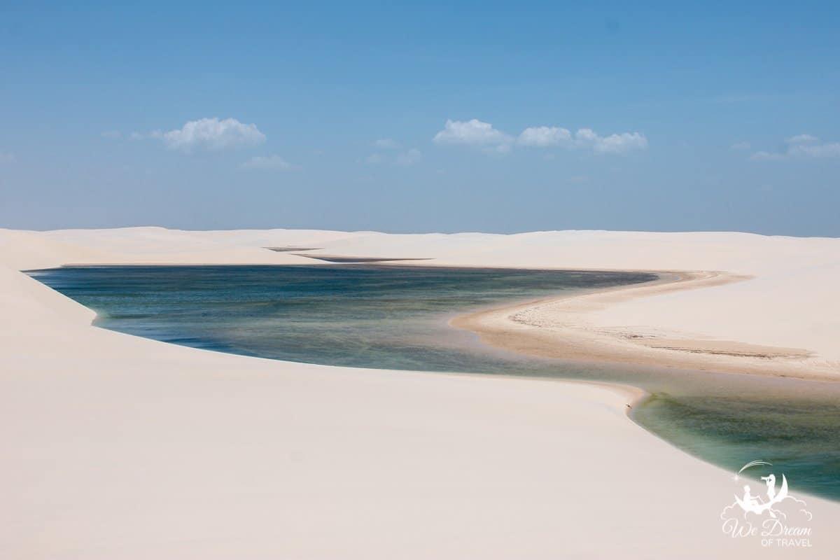 Lençóis Maranhenses sand dunes in Brazil