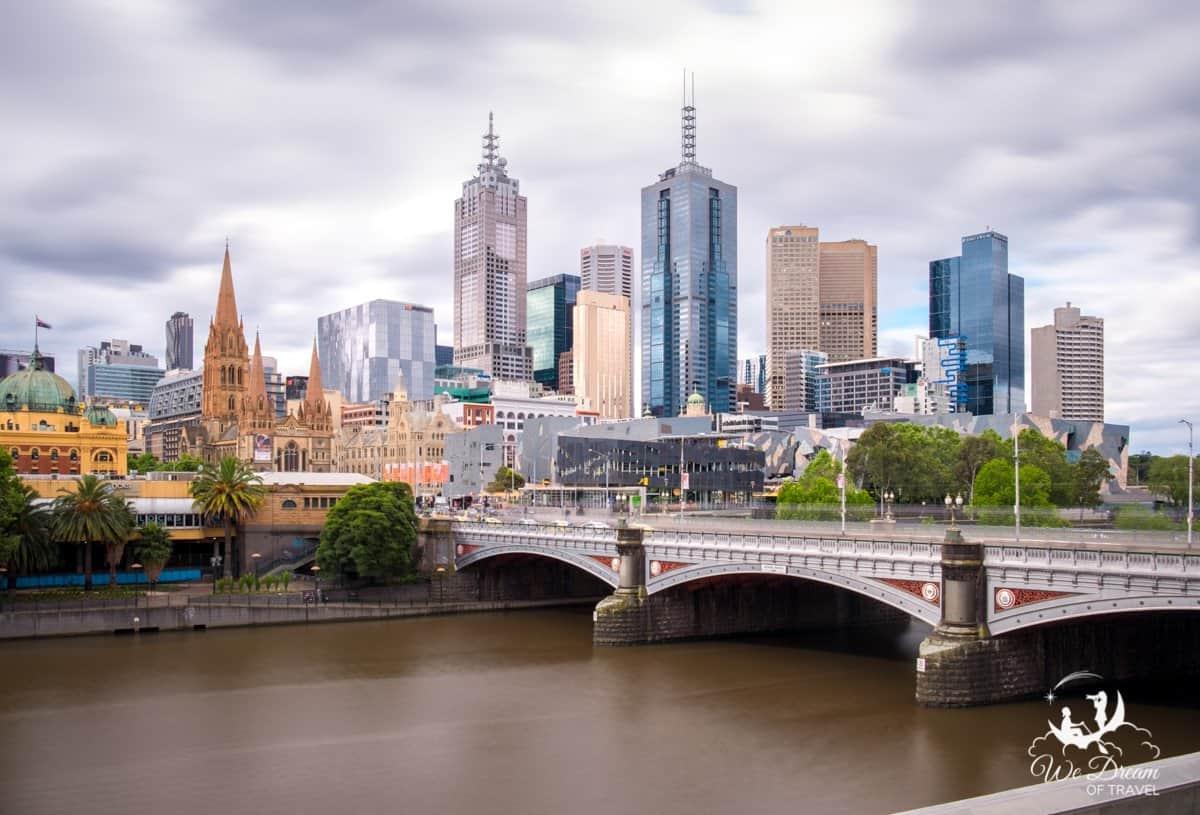 A long exposure photo of Melbourne - a dream destination in Australia
