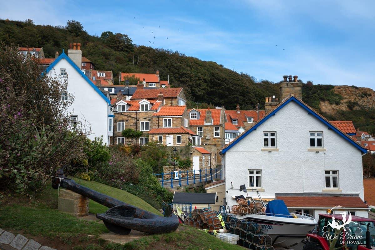 The quaint English village of Runswick Bay