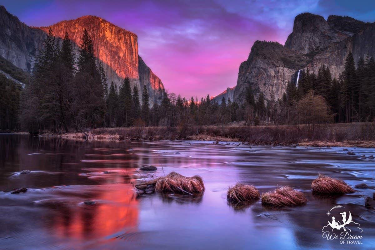 Sunset at Yosemite National Park California USA