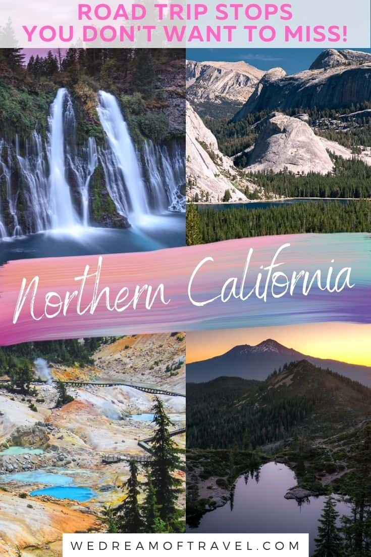 From breathtaking waterfalls to rugged mountains, volcanic wonders, pristine lakes and lava caves, you'll find plenty of things to do in Northern California. This NorCal road trip guide has a map, itineraries and photos to inspire your Northern California road trip. A perfect trip any time of the year! Northern California Travel   Northern California Road Trip   Northern California Things To Do   Road Trip Itinerary   Road Trip Map   Road Trip Places To Visit