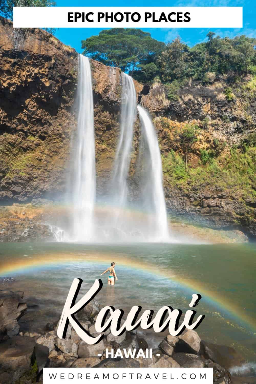 Discover the most epic photography locations in Kauai Hawaii. From secret beaches to the rugged Na Pali coast, lush landscapes and spectacular waterfalls, this Kauai photography guide has it all. #kauaihawaii #hawaii #photography