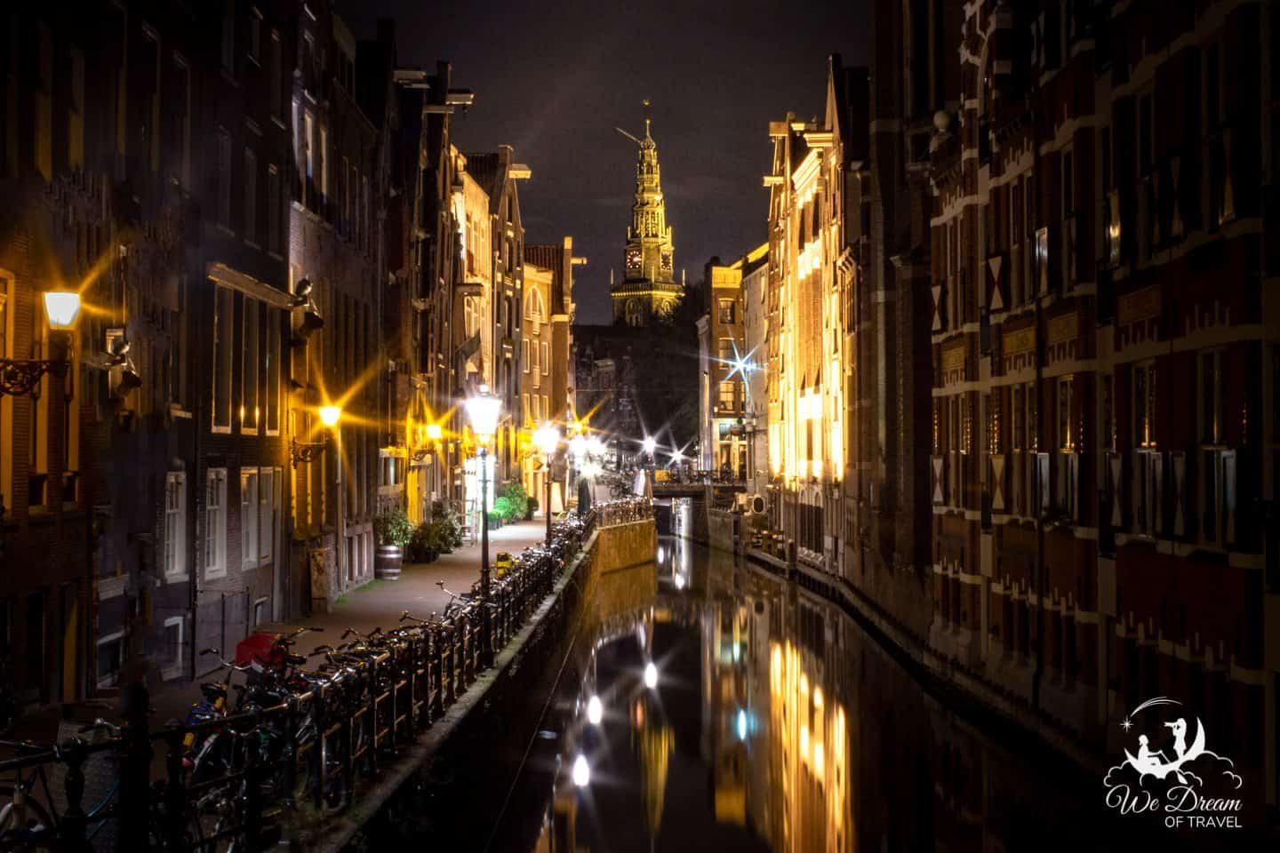 The night life in Amsterdam can be rambunctious, or serene.