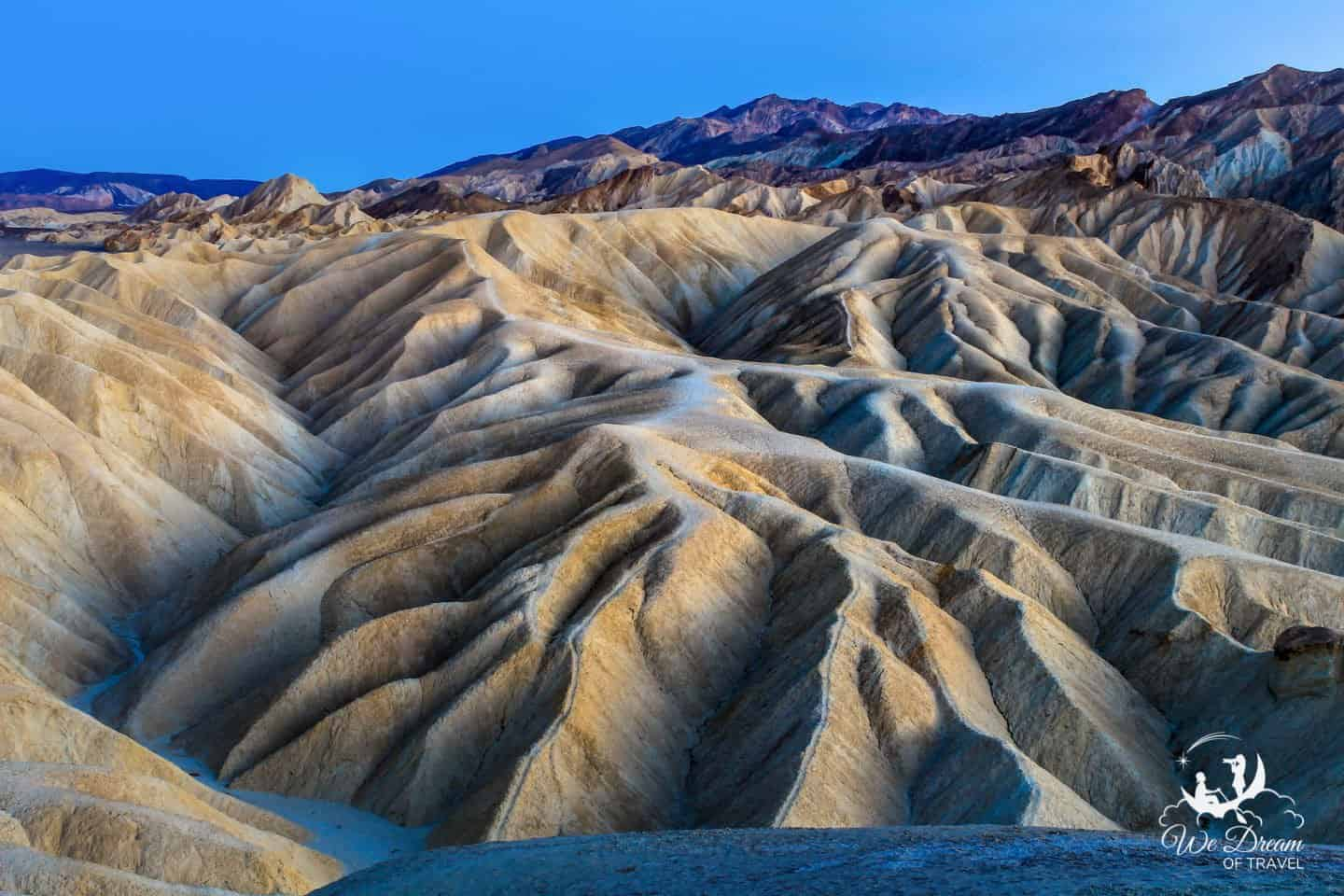 Zabriskie Point in Death Valley looks like something plucked from a dream or another planet.