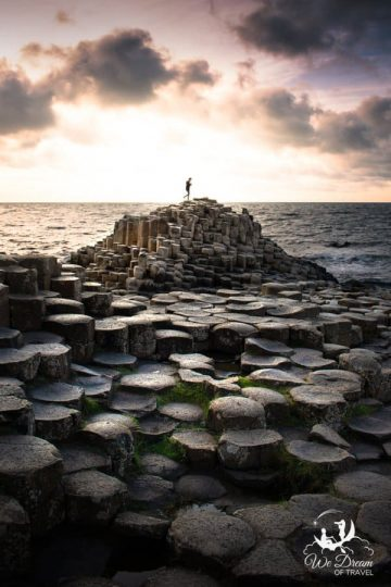 Nature's immaculate architecture on display during golden hour at the Giant's Causeway in Ireland.