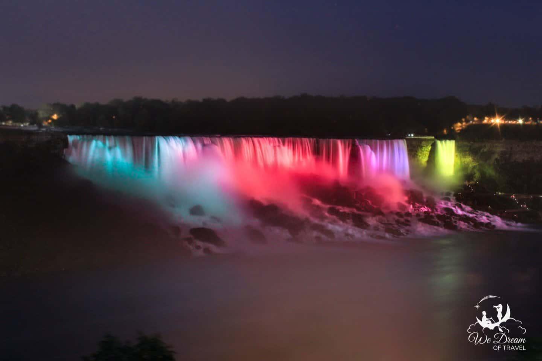 Niagara Falls has a bit more shine after dark.