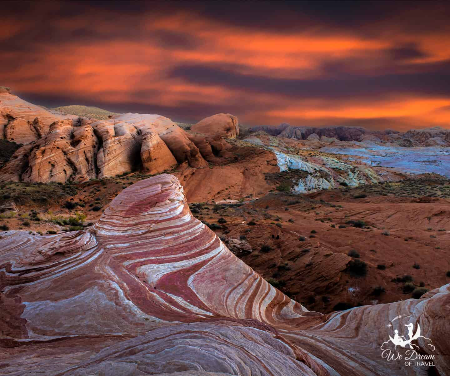 Fire in the sky and in the landscape!! Valley of Fire is the ultimate dream destination!