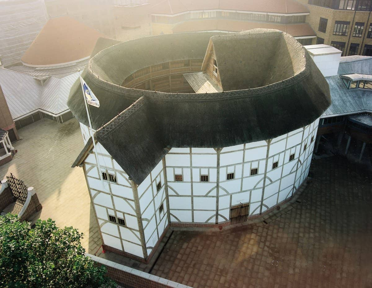 The iconic Shakespeare's Globe theatre is a cultural landmark in London.