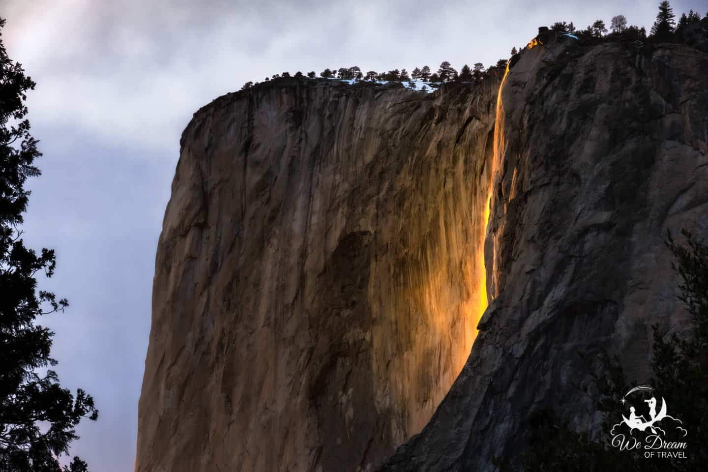 A popular view for viewing the Firefalls of Yosemite.