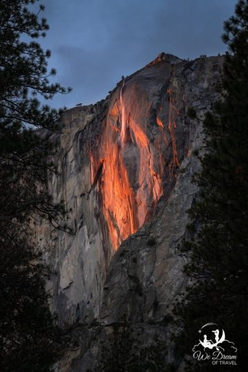 Yosemite Firefalls from the El Capitan Picnic Area.