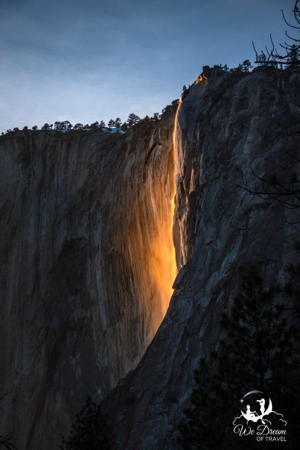 """A February itinerary for Yosemite means a chance at witnessing the incredible natural event known as """"Firefall."""""""
