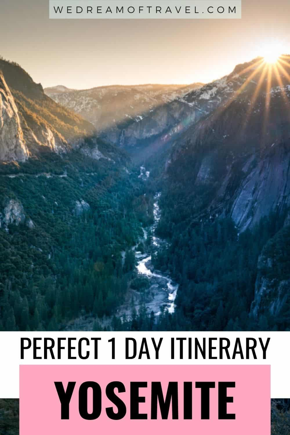 This 1 Day Yosemite Itinerary includes everything you need to know for a perfect day trip to Yosemite National Park. Find all the best stops, viewpoints and hikes to make the most of your one day in Yosemite. Yosemite Itinerary   1 day in Yosemite   Yosemite One Day Itinerary   Yosemite National Park California