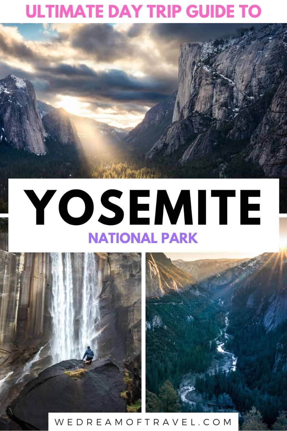 Planning a day trip to Yosemite National Park?  Discover the perfect Yosemite one day itinerary to maximise your time in California's most beautiful national park.  Yosemite National Park | Yosemity National Park in 1 day | 1 day in Yosemite | things to do in Yosemite National Park | Yosemite Day Trip | Half Dome | Yosemite viewpoints | Visit California