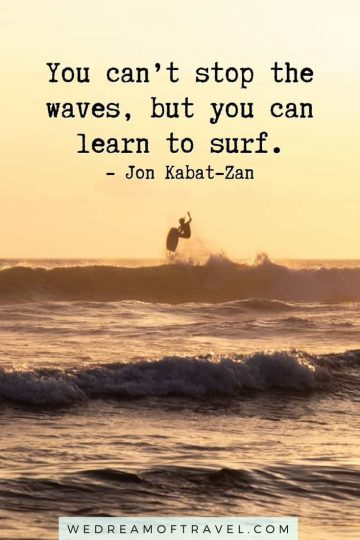 Looking for a quick reminder of a fun past day on the ocean? Or inspiration to get back to the sea? Or maybe even just a great ocean instagram caption!? These quotes about the sea will help take you to the beach and get you in the mood for summer without leaving home! #ocean #sea #seaquotes #oceanquotes #quotesaboutthesea #oceaninstagramcaptions #travelquotes #instagramcaptions