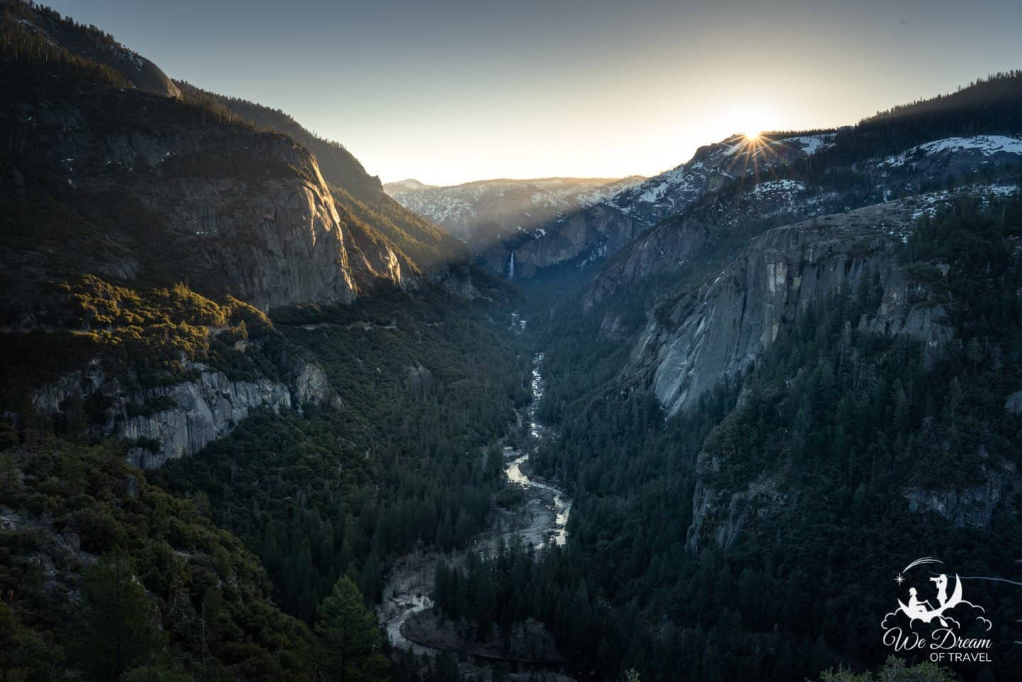 Sunrise photography from Hwy 120 in Yosemite National Park.