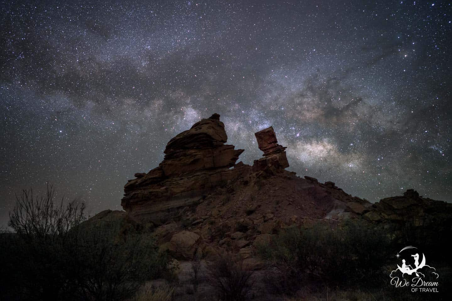 Milky Way photography from Big Bend featuring the hoodoos of Exhibit Ridge.