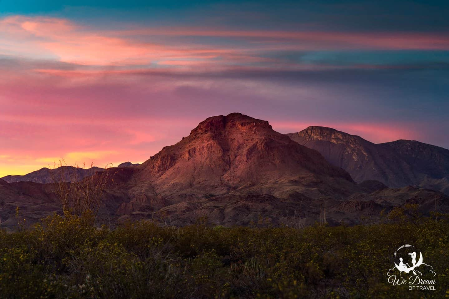 A spectacular sunset in Big Bend National Park.