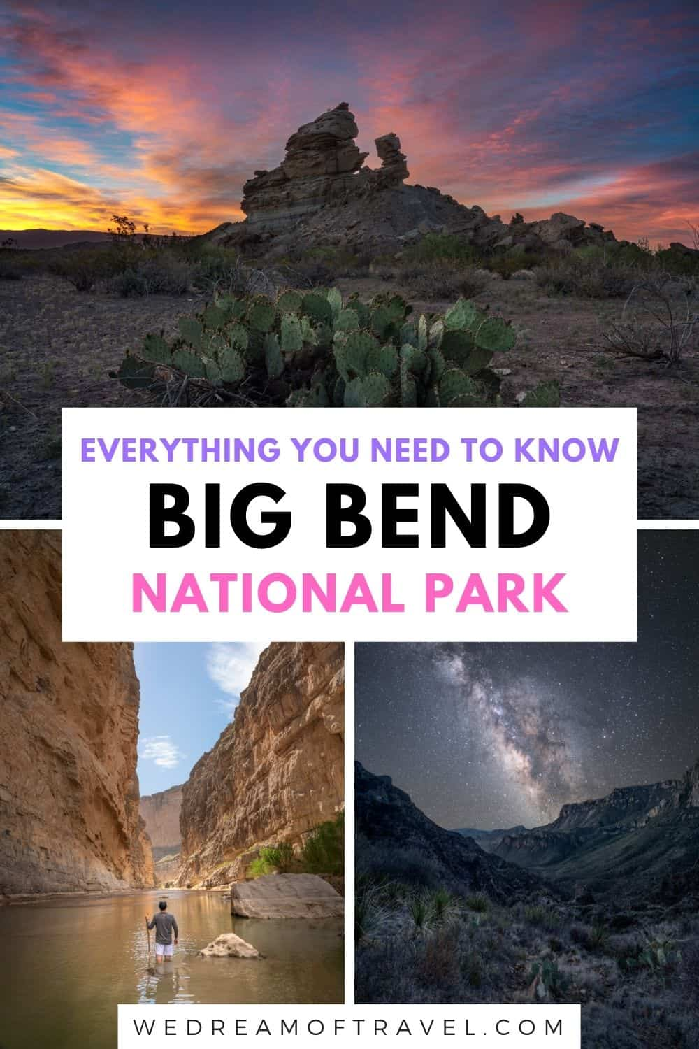 Discover everything you need to know about visiting Big Bend National Park in Texas.  This ultimate guide includes the top sights and best things to do and photograph, as well as how to plan your trip to Big Bend: where to stay, how to get there, when to visit, where to eat, etc.  As well as fun facts about Big Bend!   Texas Travel | National Park Travel | Big Bend National Park