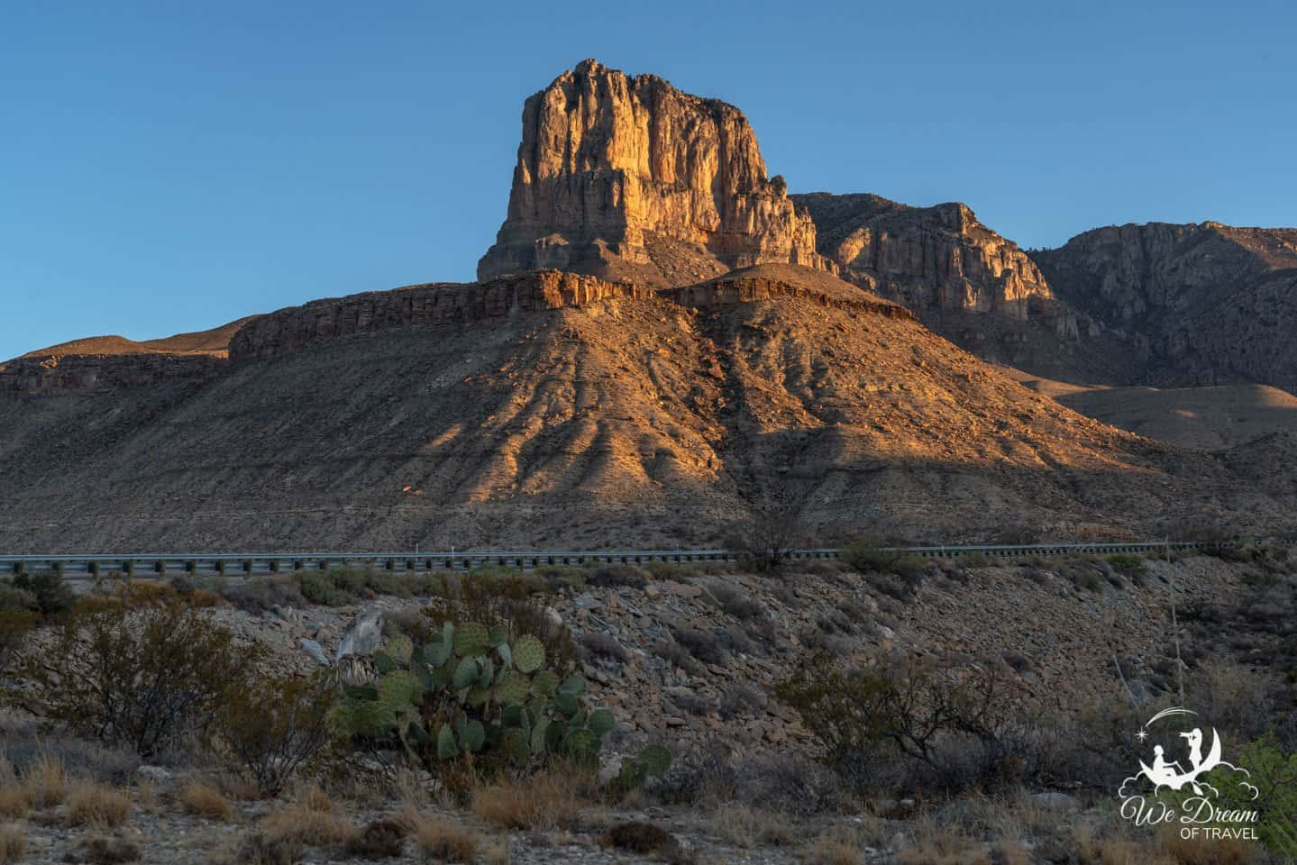 Sunrise photography from El Capitan Lookout in Guadalupe Mountains National Park.